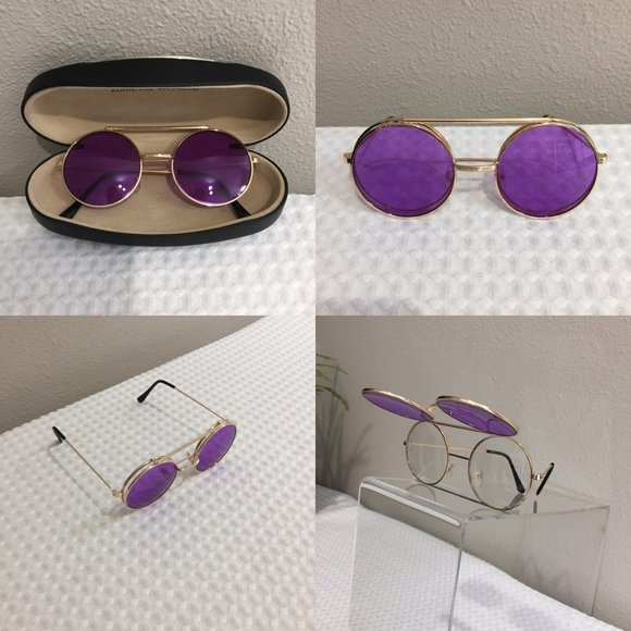 Rare Free People Double Take Flip-Up Aviators